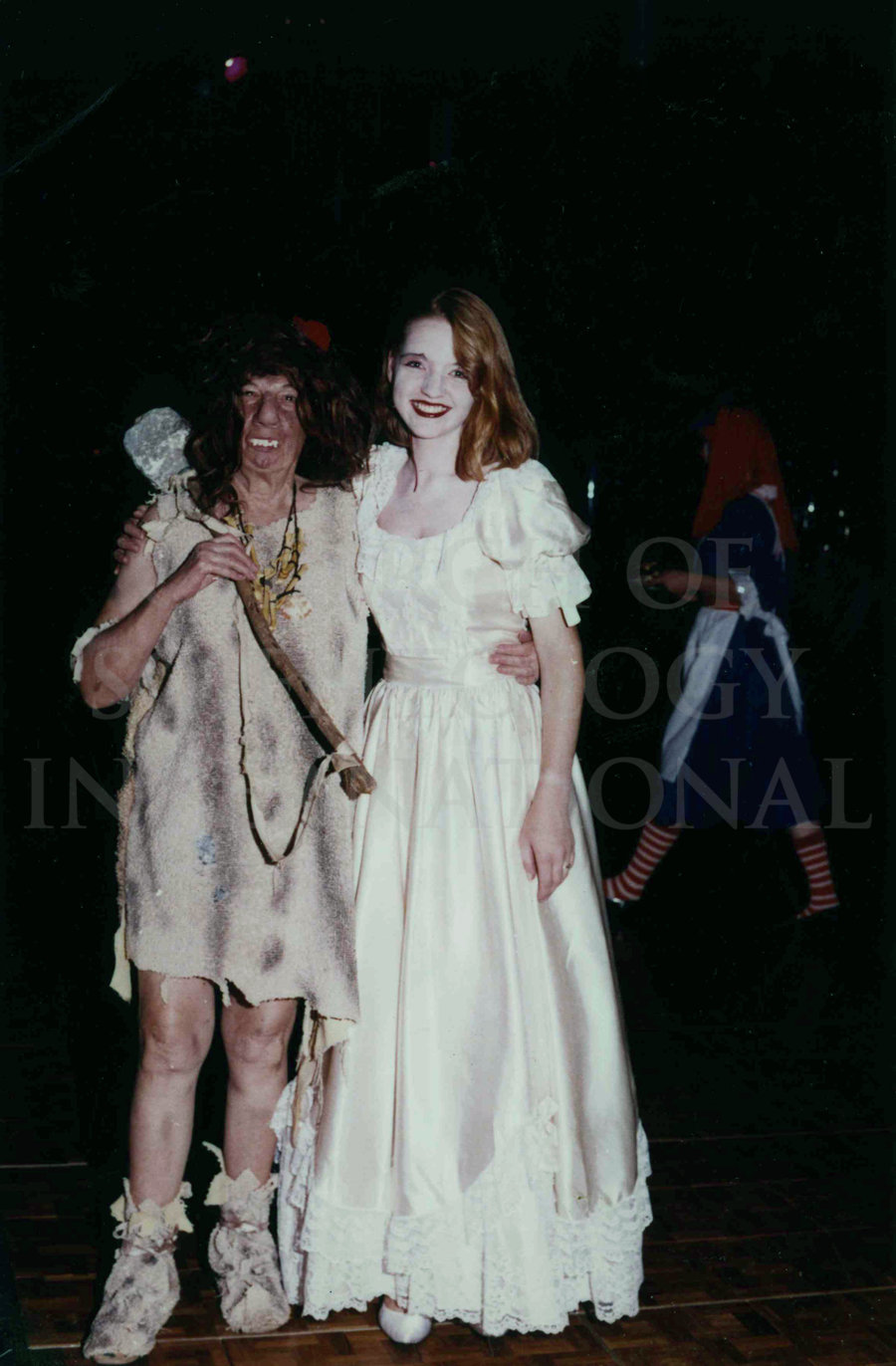 Claire dressed as a Princess at a Halloween Party at Golden Era