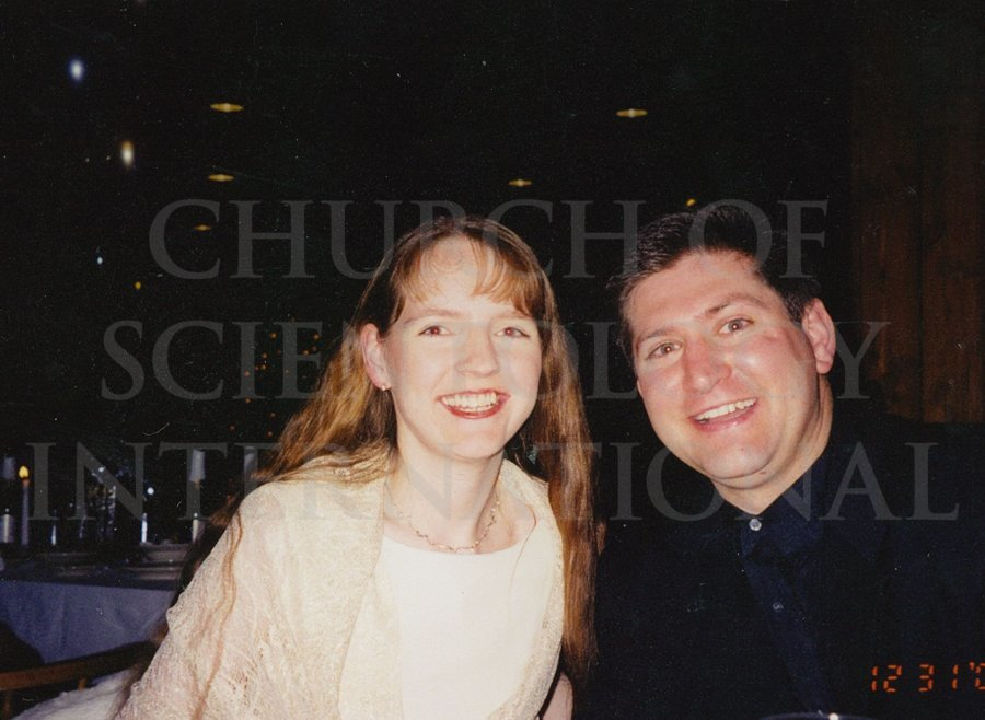 Marc and Claire at the New Years celebration at Golden Era in 2002