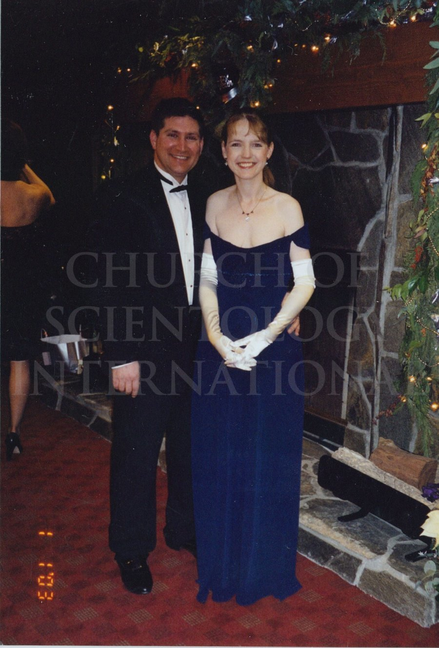 Marc and Claire enjoying New Year's 2003 at Golden Era